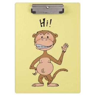 hi monkey bye monkey clipboard