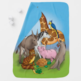 Hi my friends! | Adorable Animals Baby Blanket