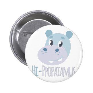 Hi-ppopatamus 2 Inch Round Button