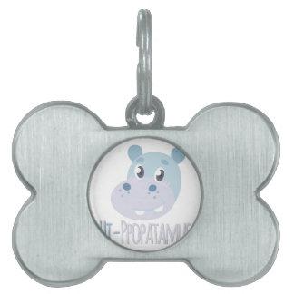 Hi-ppopatamus Pet ID Tags