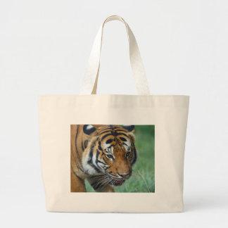 Hi-Res Malay Tiger Close-up Large Tote Bag