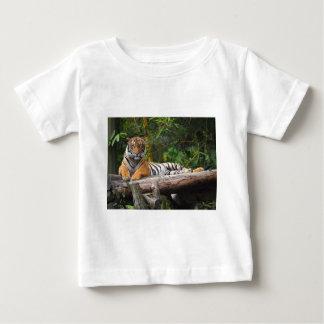 Hi-Res Malay Tiger Lounging on Log Baby T-Shirt