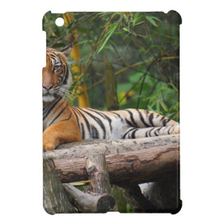 Hi-Res Malay Tiger Lounging on Log iPad Mini Cases