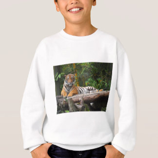 Hi-Res Malay Tiger Lounging on Log Sweatshirt