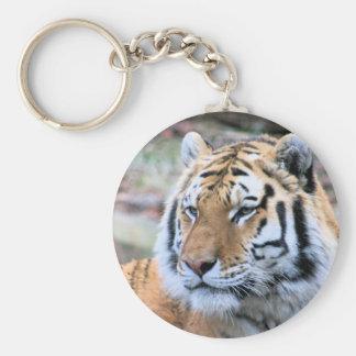 Hi-Res Stoic Royal Bengal Tiger Keychain