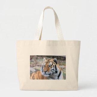 Hi-Res Stoic Royal Bengal Tiger Large Tote Bag