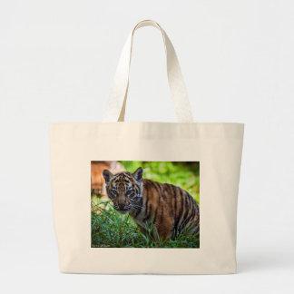 Hi-Res Sumatran Tiger Cub Large Tote Bag