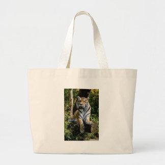 Hi-Res Tiger in Muenster Large Tote Bag