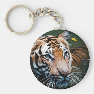 Hi-Res Tiger in Water Keychain