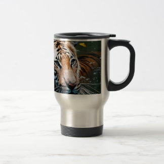 Hi-Res Tiger in Water Travel Mug