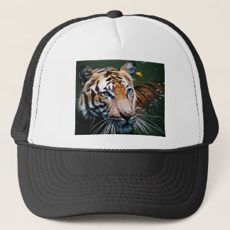 Hi-Res Tiger in Water Trucker Hat