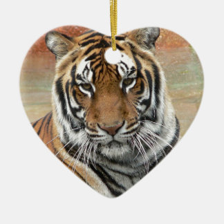 Hi-Res Tigres in Contemplation Ceramic Ornament