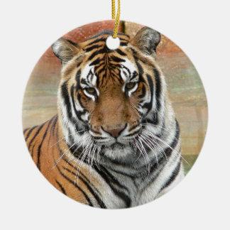 Hi-Res Tigres in Contemplation Ceramic Ornament