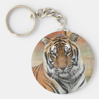 Hi-Res Tigres in Contemplation Keychain