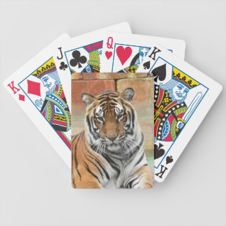 Hi-Res Tigres in Contemplation Poker Deck