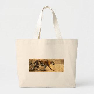 Hi-Res Tigres Stalking Large Tote Bag