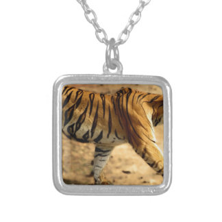 Hi-Res Tigres Stalking Silver Plated Necklace