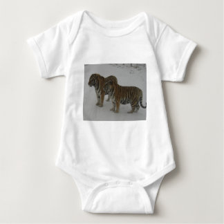 Hi-Res Two Siberian Tigers Baby Bodysuit