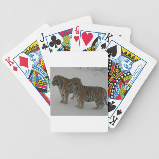 Hi-Res Two Siberian Tigers Bicycle Playing Cards