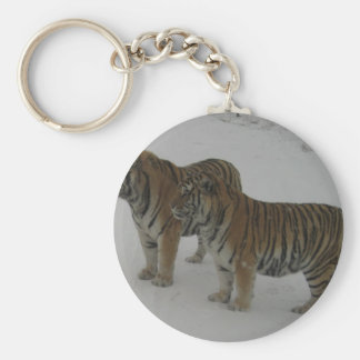 Hi-Res Two Siberian Tigers Keychain