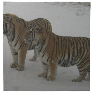 Hi-Res Two Siberian Tigers Napkin