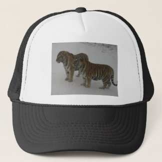 Hi-Res Two Siberian Tigers Trucker Hat
