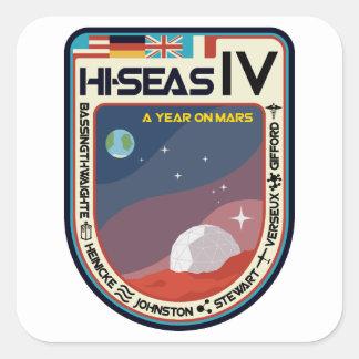 HI-SEAS IV Square Stickers (Sheet of 6)