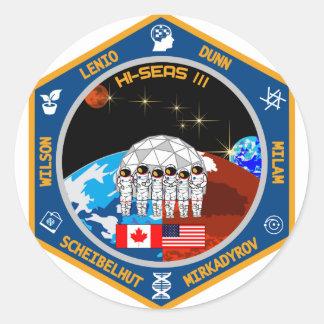 HI-SEAS Mission III Gear Round Sticker