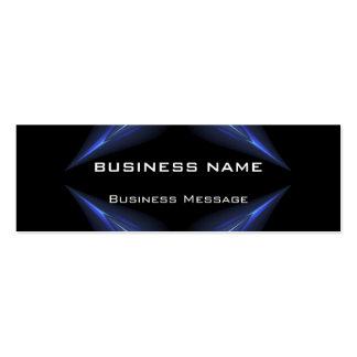 Hi Tech Blue and Black Neon Futuristic Business Card
