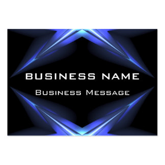 Hi Tech Blue and Black Neon Futuristic Business Cards