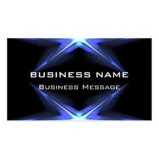 Hi Tech Blue and Black Neon Futuristic Business Card Templates