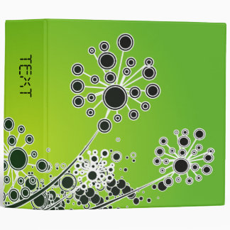 Hi Tech Flower On Lime Green Background Binders