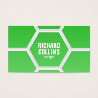 Hi-Tech Honeycomb Pattern - Green Business Card