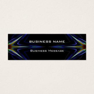 Hi Tech Neon Futuristic Mini Business Card