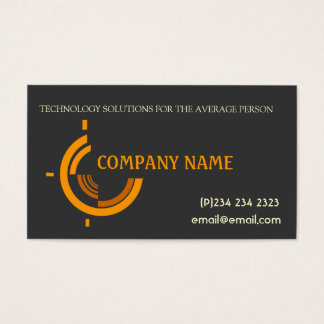 Hi Tech Tri Company Promotional Business Card