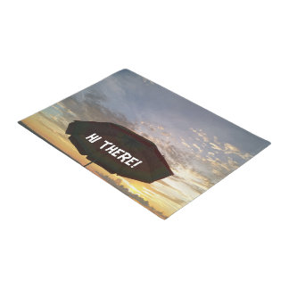 Hi there Beautiful Beach Sunset Print Doormat