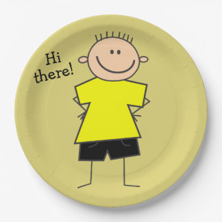 Hi there Cute Smiley Boy Design Paper Plates