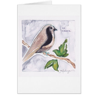 hi there little birdie card