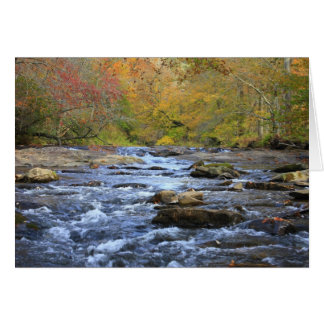 Hiawassee River in Autumn Card