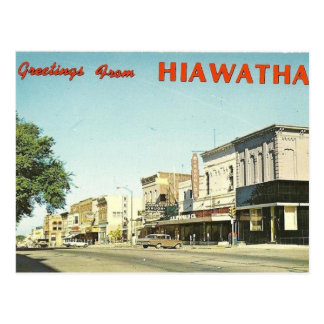 Hiawatha Kansas Postcard