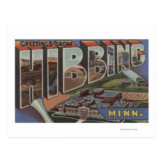 Hibbing, Minnesota - Large Letter Scenes Postcard