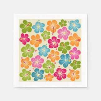 Hibiscua Flowers Paper Napkin
