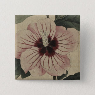 Hibiscus 2 Inch Square Button