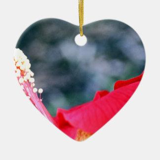 Hibiscus 4 ceramic ornament