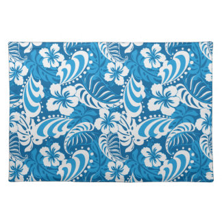 Hibiscus abstract floral placemat
