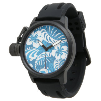 Hibiscus abstract floral watch