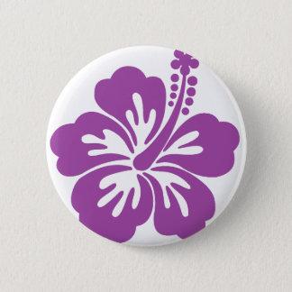 hibiscus aloha flower 2 inch round button