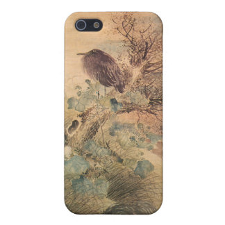 Hibiscus and Blue Heron Cover For iPhone 5
