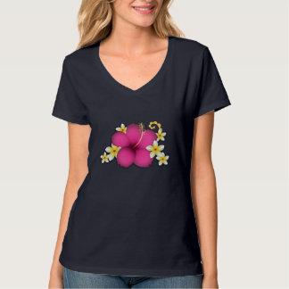 Hibiscus and Plumerias T-Shirt