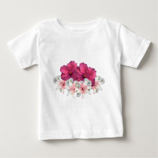 Hibiscus arrangement baby T-Shirt